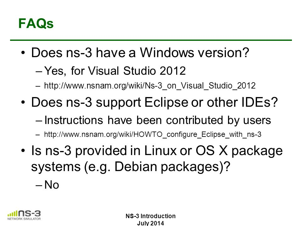 Does ns-3 have a Windows version
