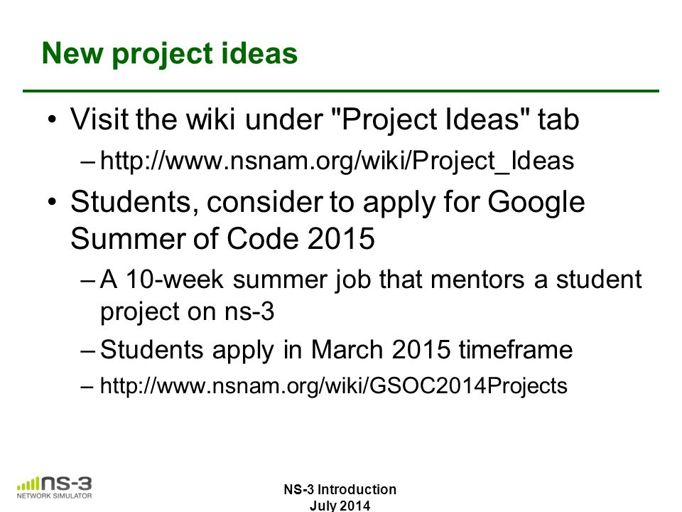 Visit the wiki under Project Ideas tab