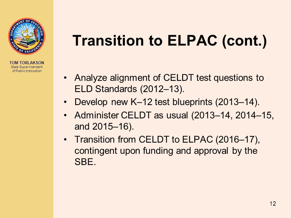 Transition to ELPAC (cont.)