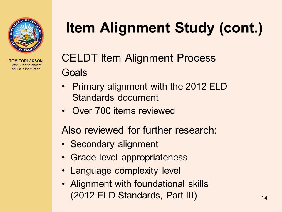 Item Alignment Study (cont.)