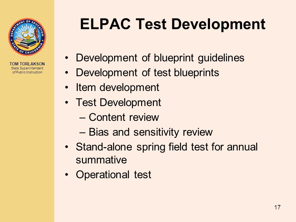 ELPAC Test Development