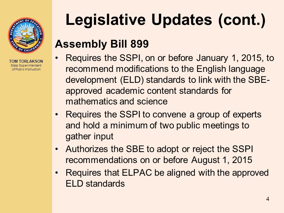 Legislative Updates (cont.)