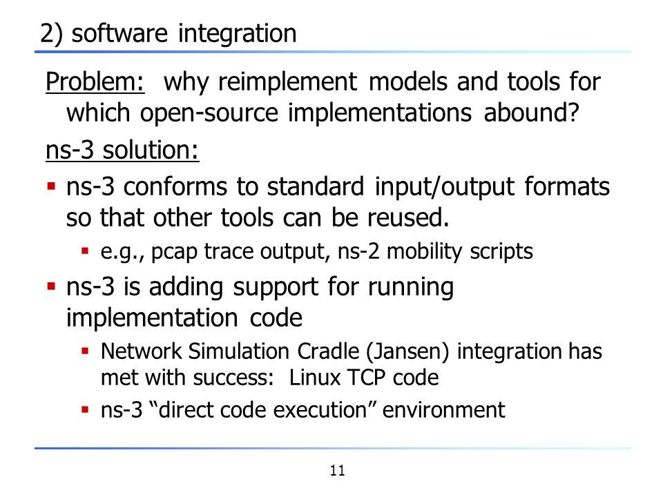 2) software integration