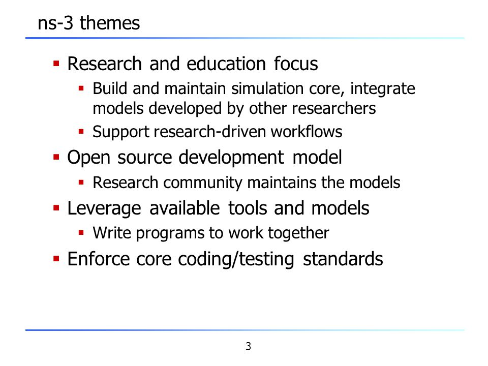 Research and education focus