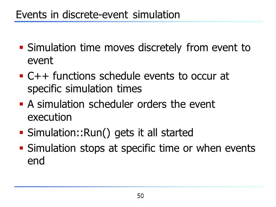 Events in discrete-event simulation