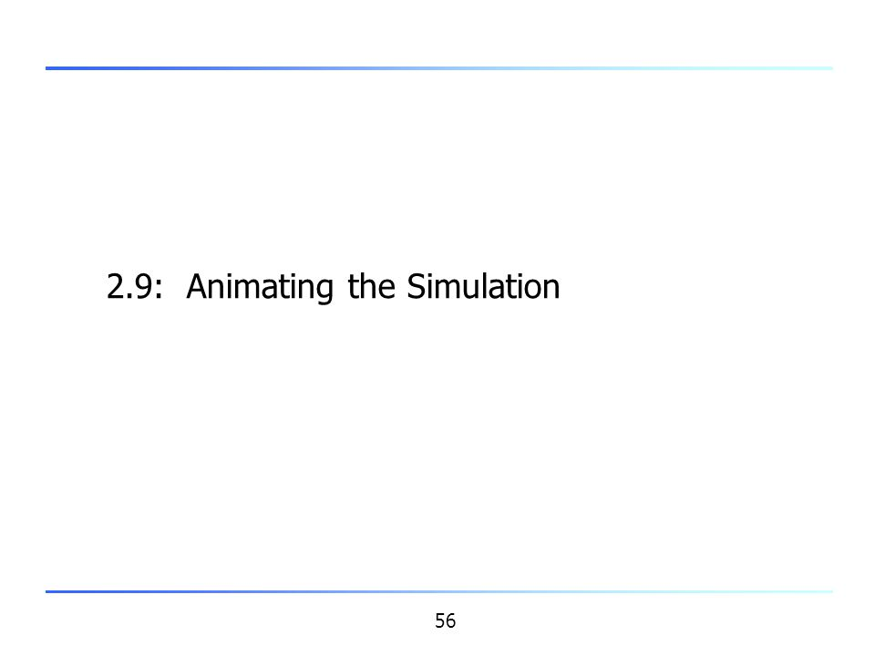 2.9: Animating the Simulation