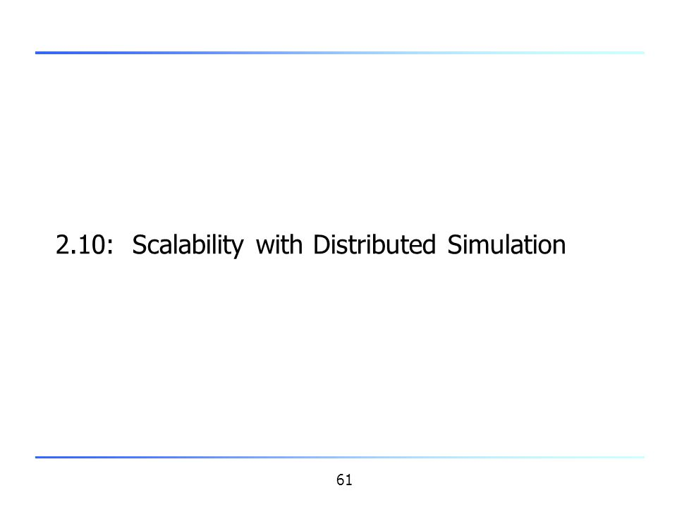2.10: Scalability with Distributed Simulation