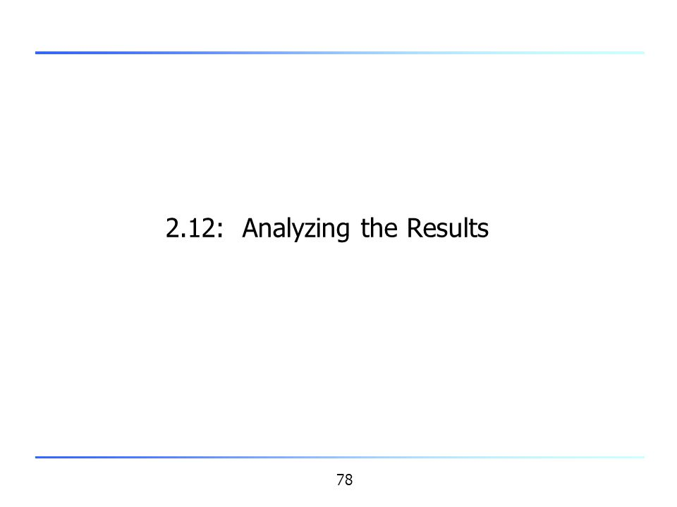 2.12: Analyzing the Results