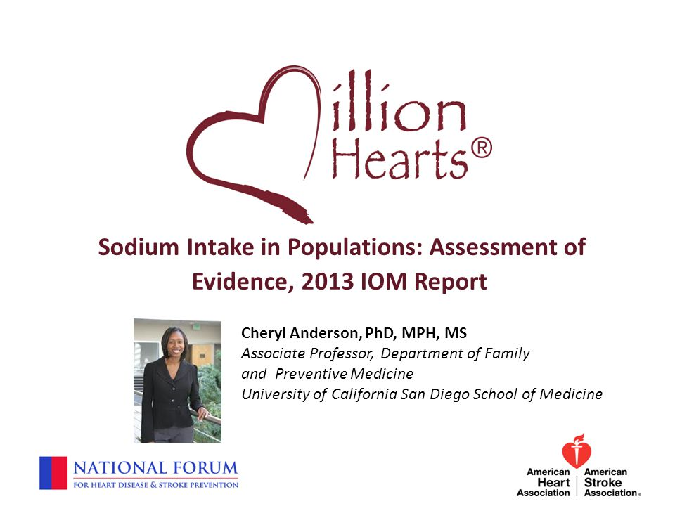 Sodium Intake in Populations: Assessment of Evidence, 2013 IOM Report