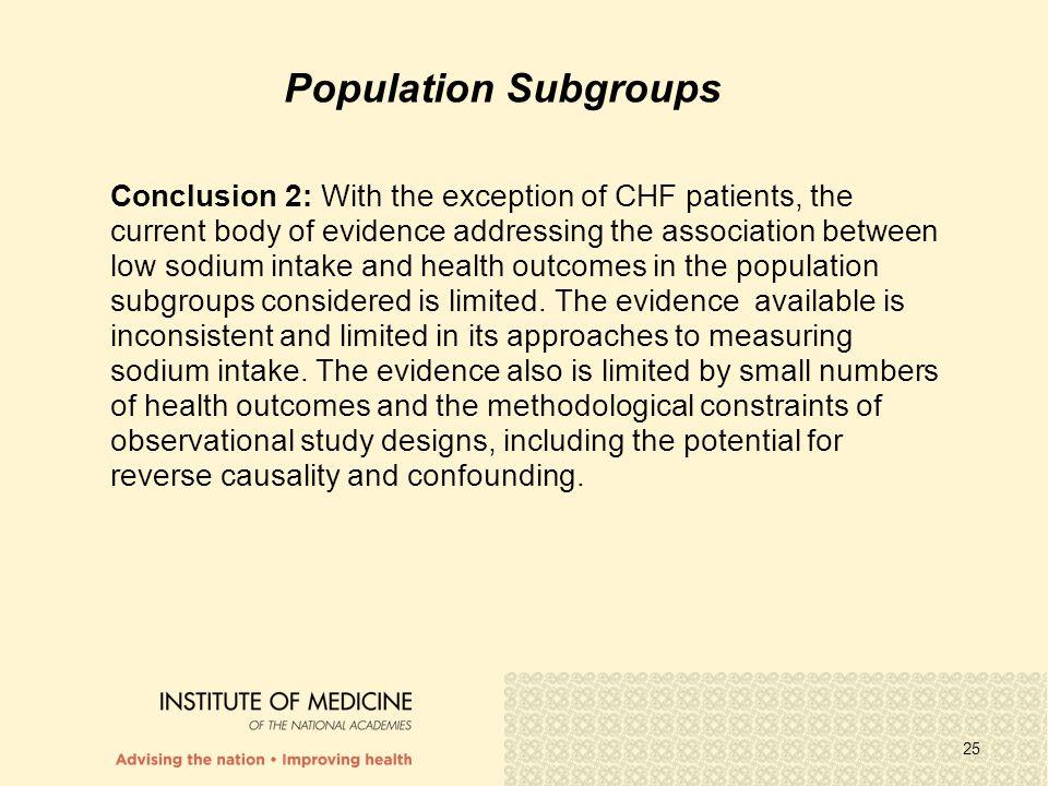 Population Subgroups