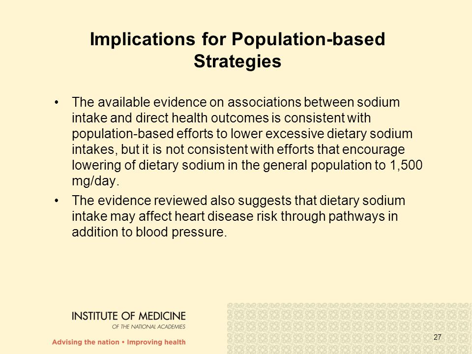 Implications for Population-based Strategies