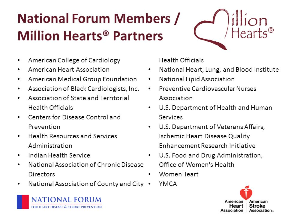 National Forum Members / Million Hearts® Partners