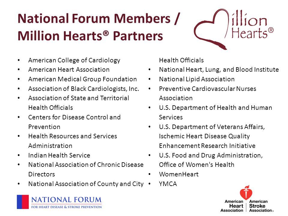 National Forum Members / Million Hearts® Partners