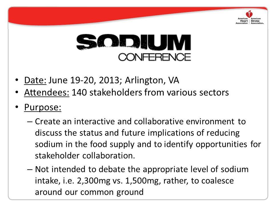 Date: June 19-20, 2013; Arlington, VA