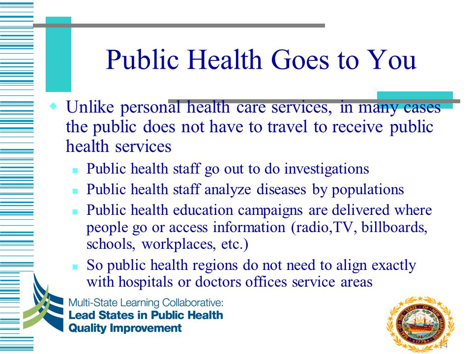 Public Health Goes to You