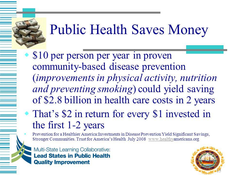 Public Health Saves Money