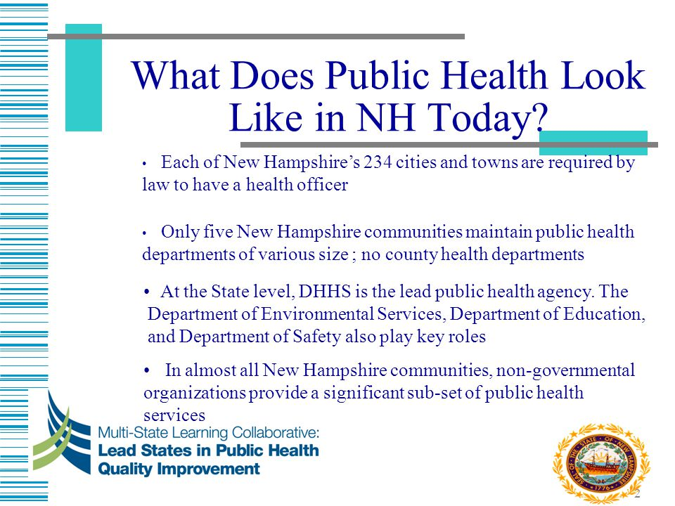 What Does Public Health Look Like in NH Today