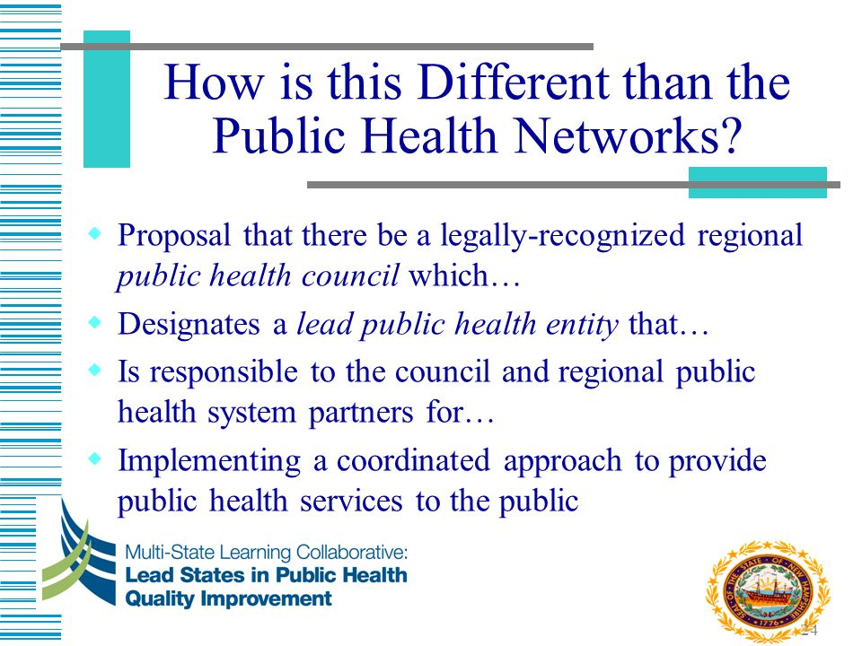 How is this Different than the Public Health Networks