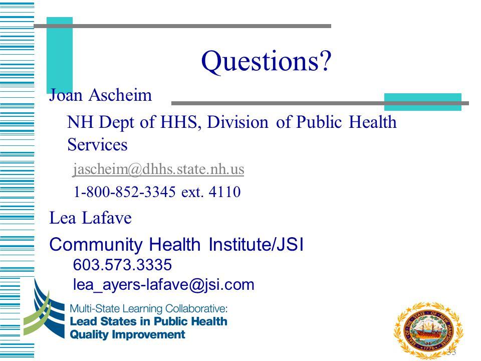 Questions Joan Ascheim