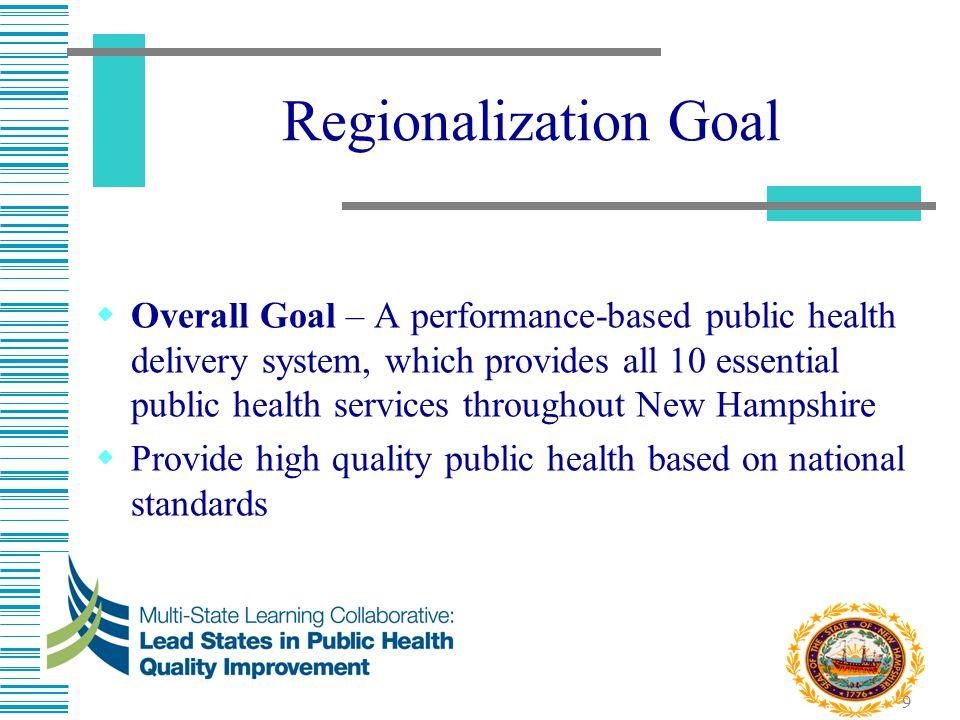 Regionalization Goal