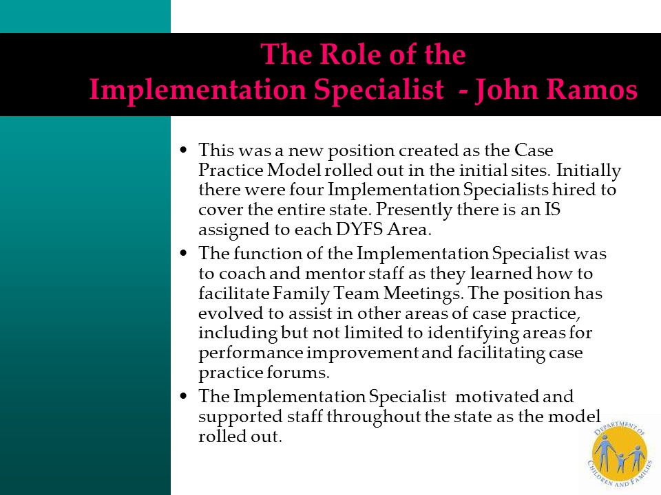 The Role of the Implementation Specialist - John Ramos