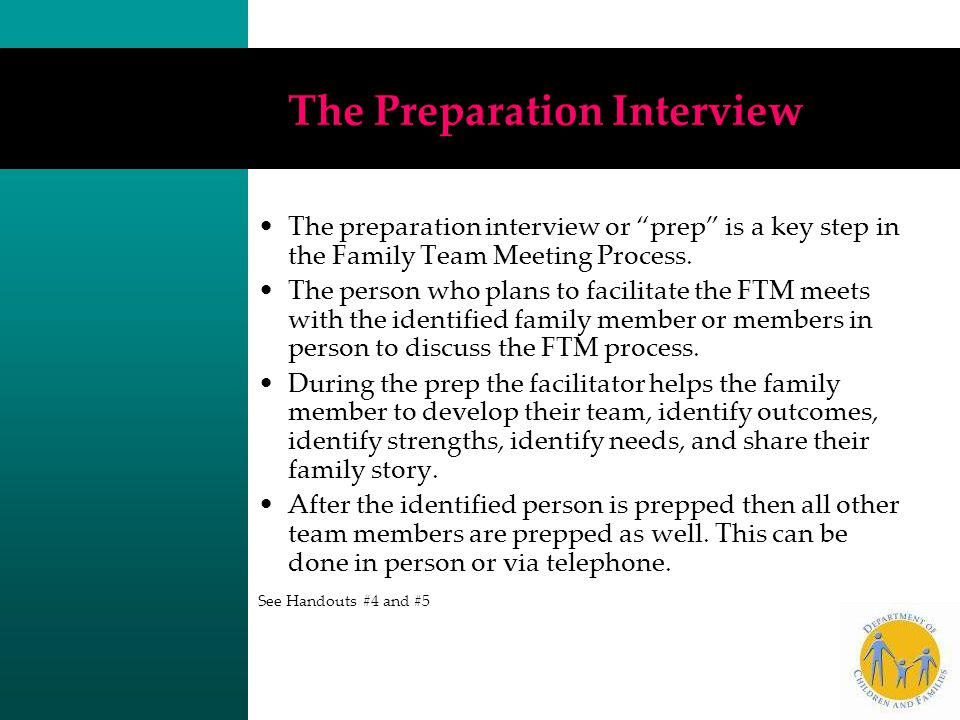 The Preparation Interview