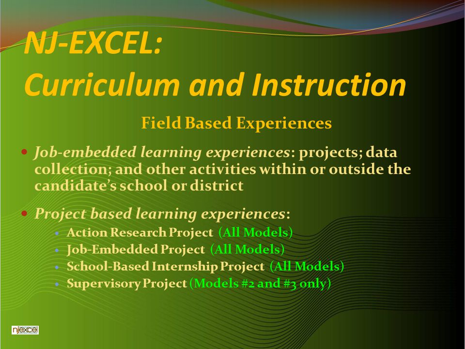 NJ-EXCEL: Curriculum and Instruction