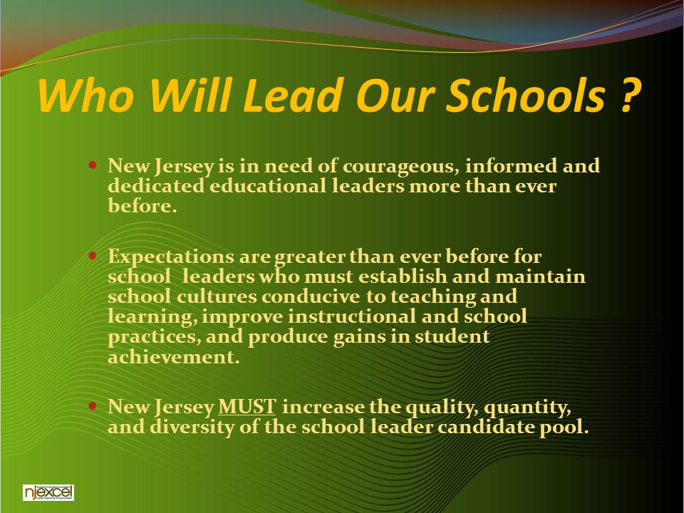Who Will Lead Our Schools