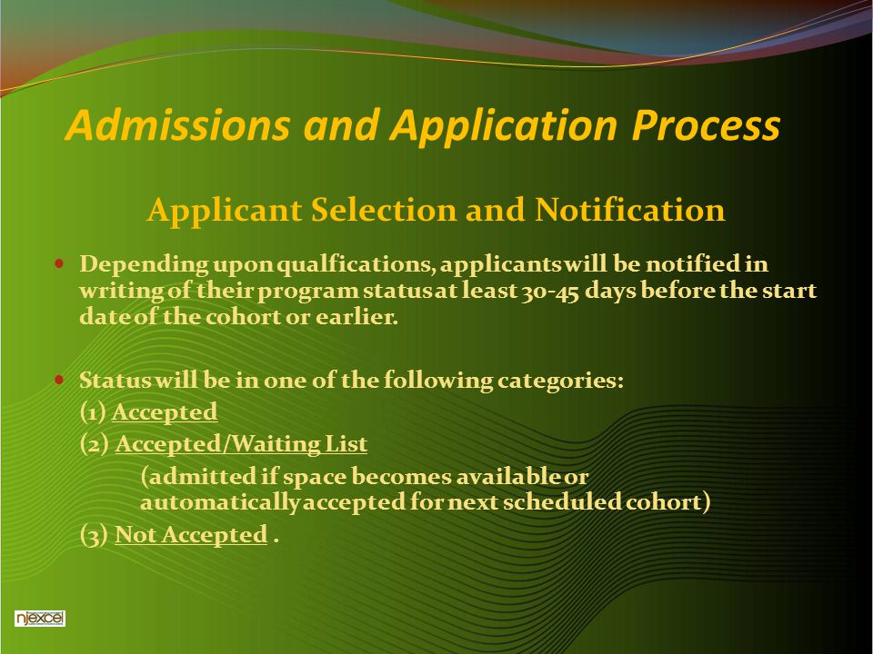 Admissions and Application Process