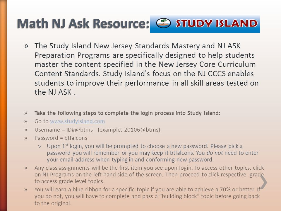 Math NJ Ask Resource: