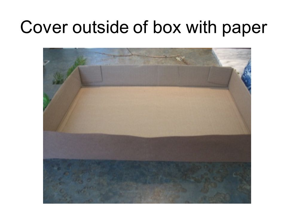 Cover outside of box with paper