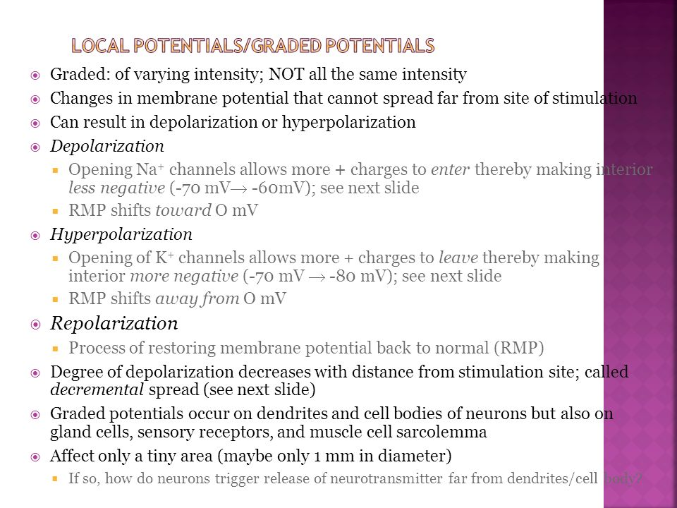 Local Potentials/Graded Potentials