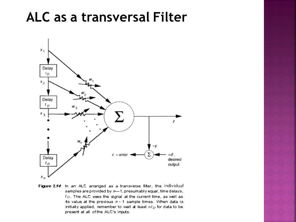 ALC as a transversal Filter