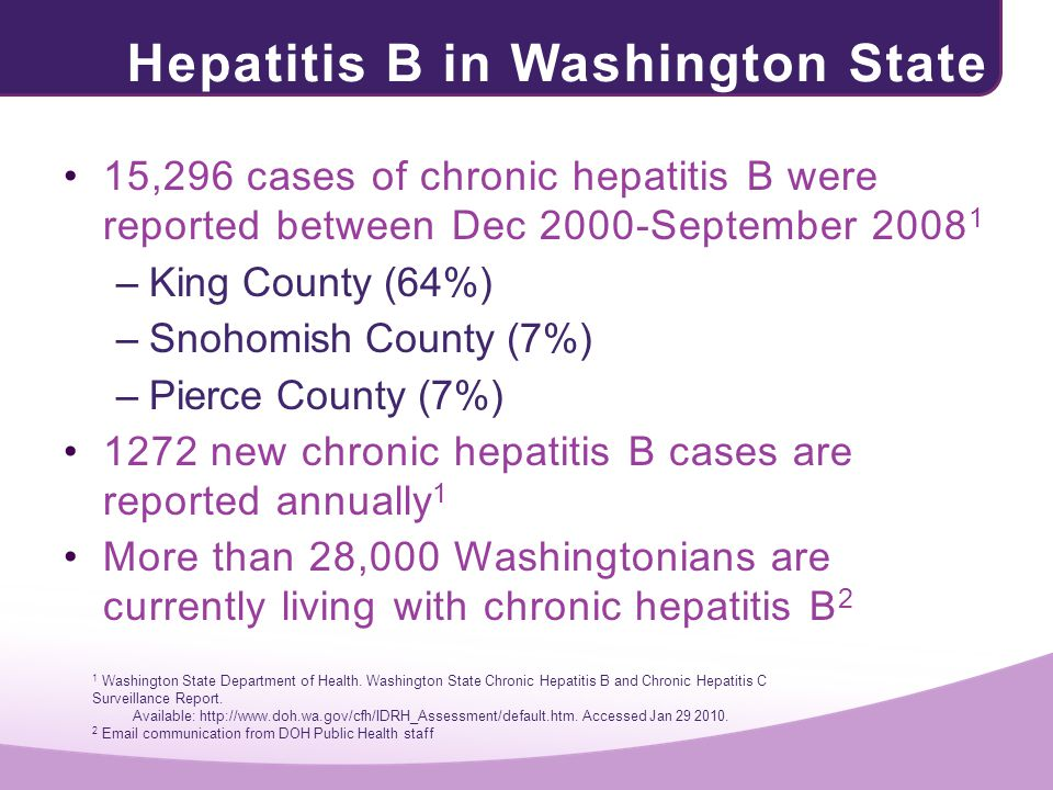Hepatitis B in Washington State