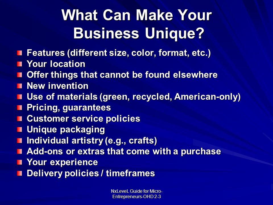 What Can Make Your Business Unique