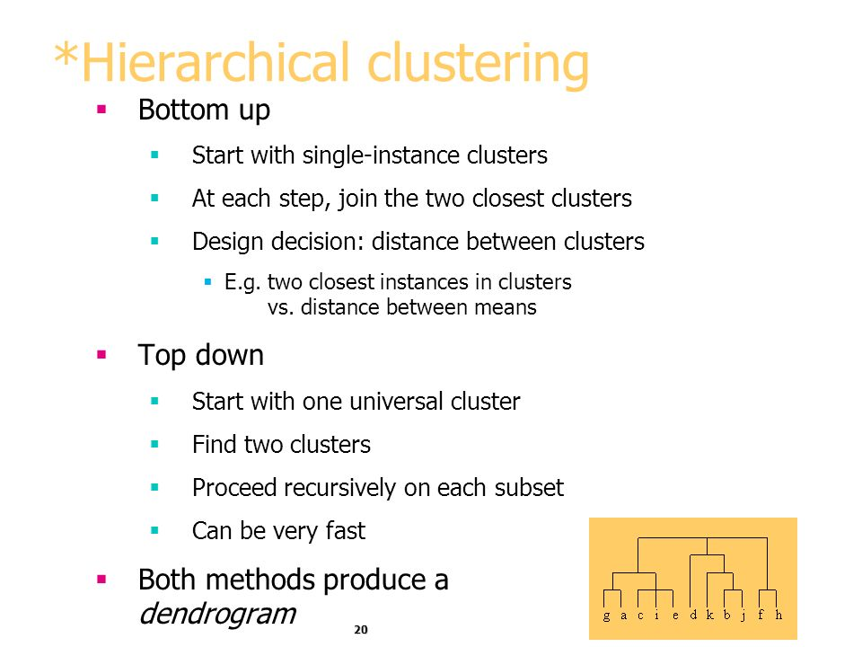 *Hierarchical clustering