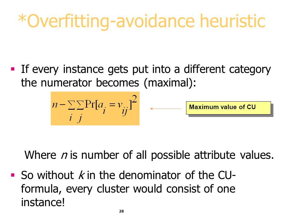 *Overfitting-avoidance heuristic