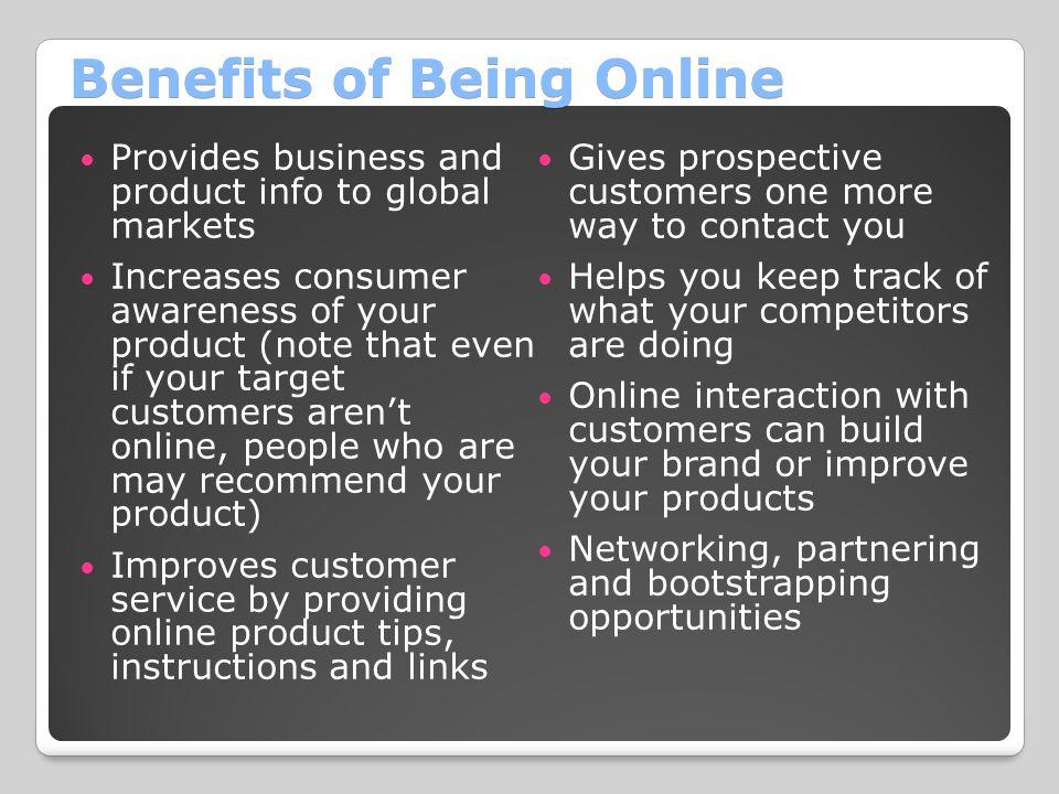 Benefits of Being Online