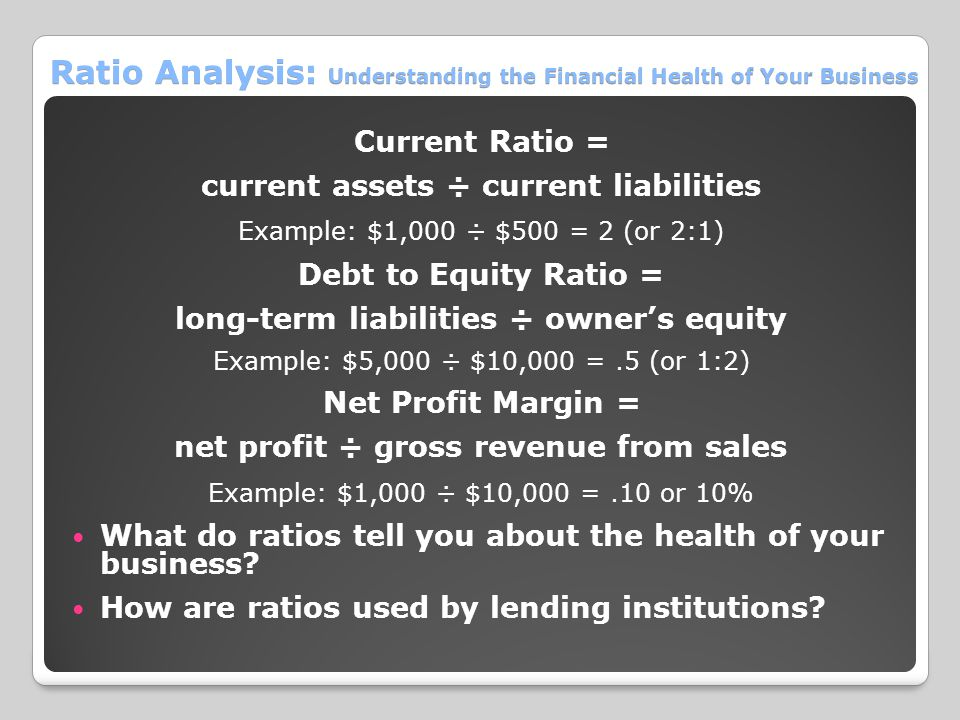 Ratio Analysis: Understanding the Financial Health of Your Business