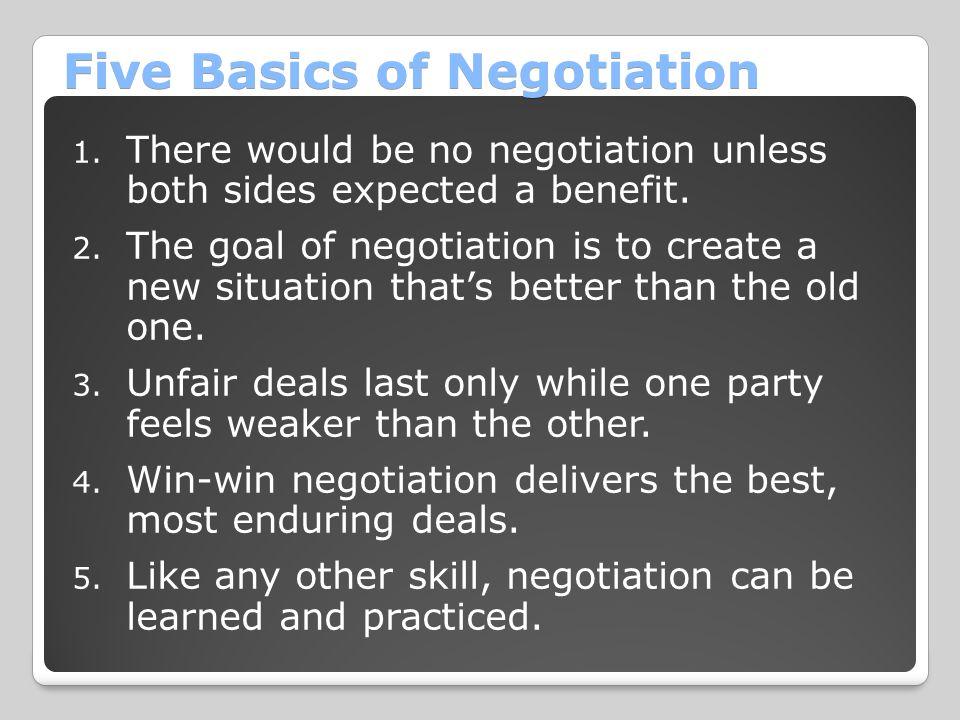Five Basics of Negotiation