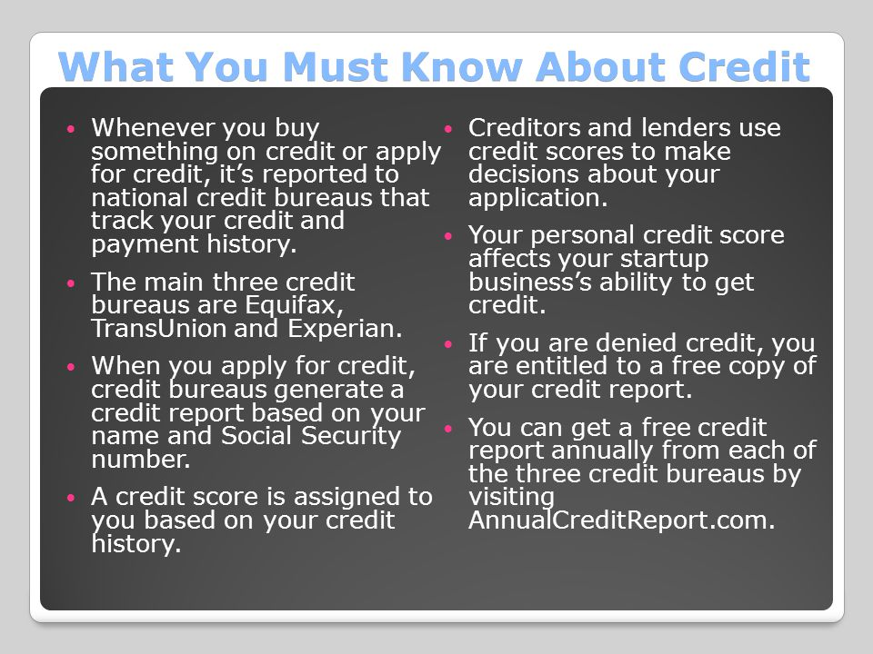 What You Must Know About Credit