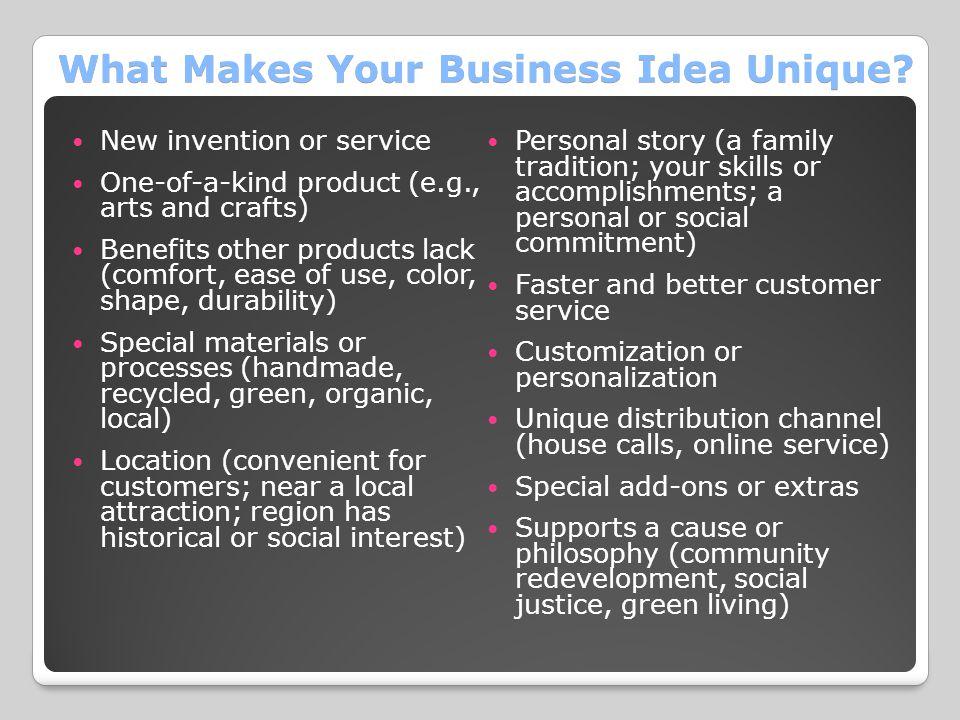 What Makes Your Business Idea Unique