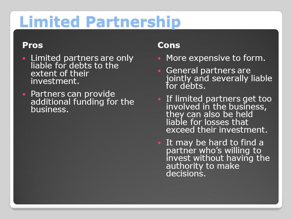 Limited Partnership Pros