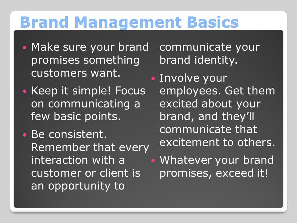 Brand Management Basics
