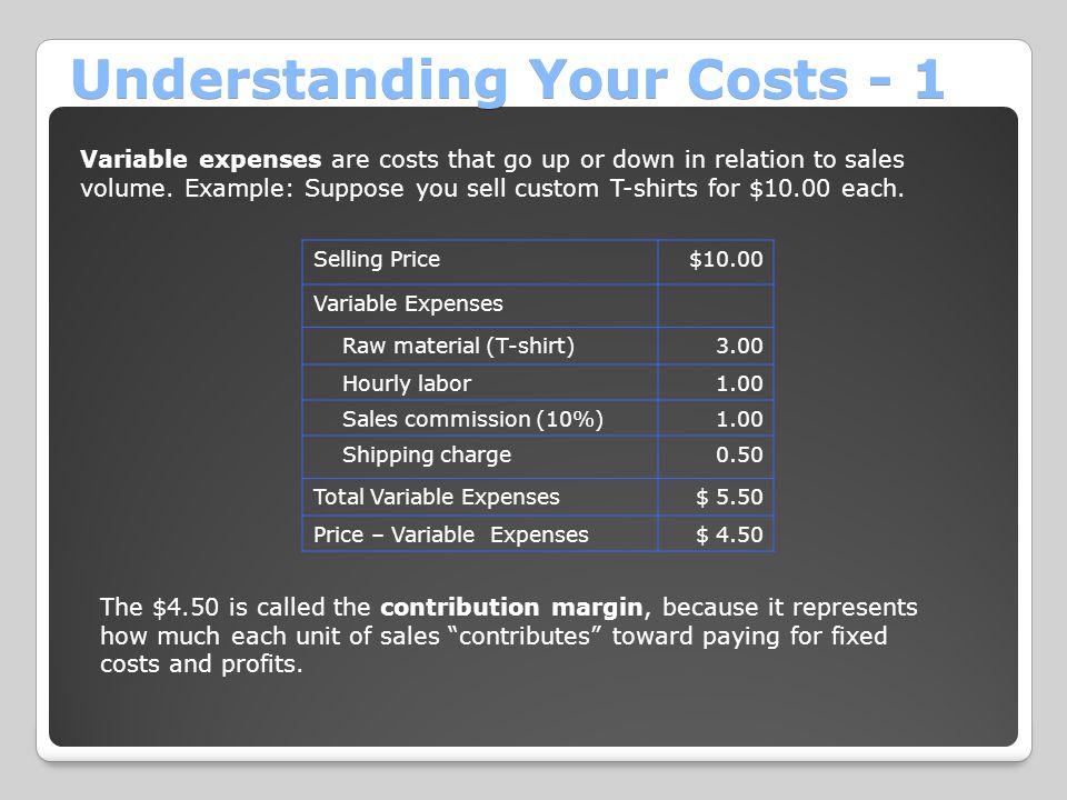 Understanding Your Costs - 1