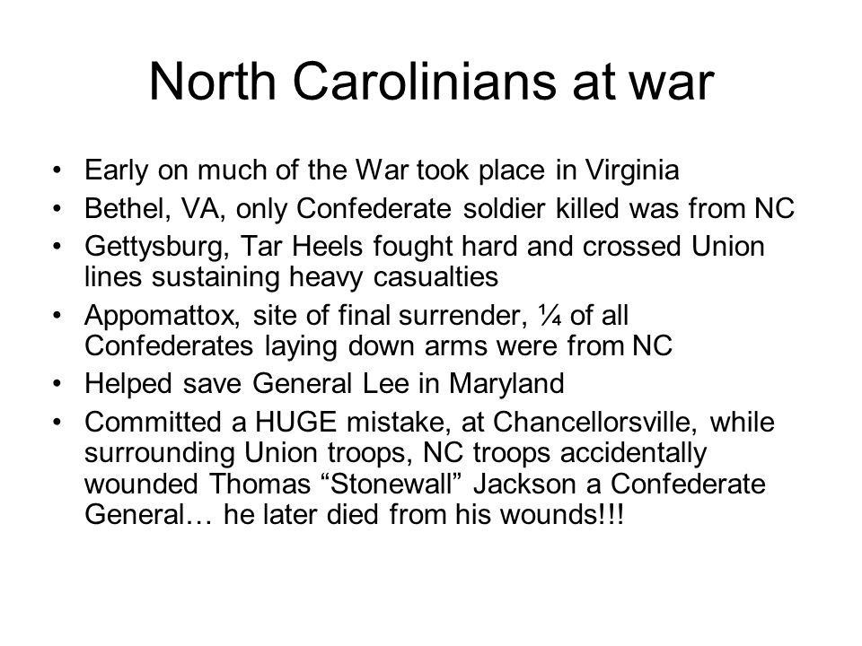 North Carolinians at war