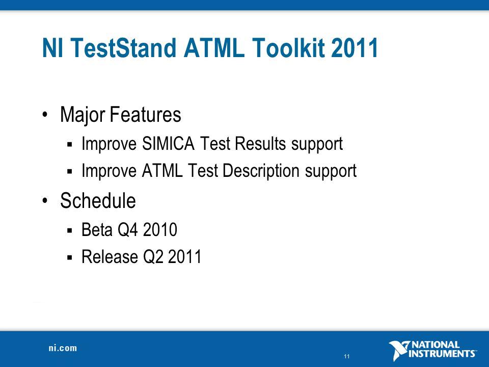 NI TestStand ATML Toolkit 2011