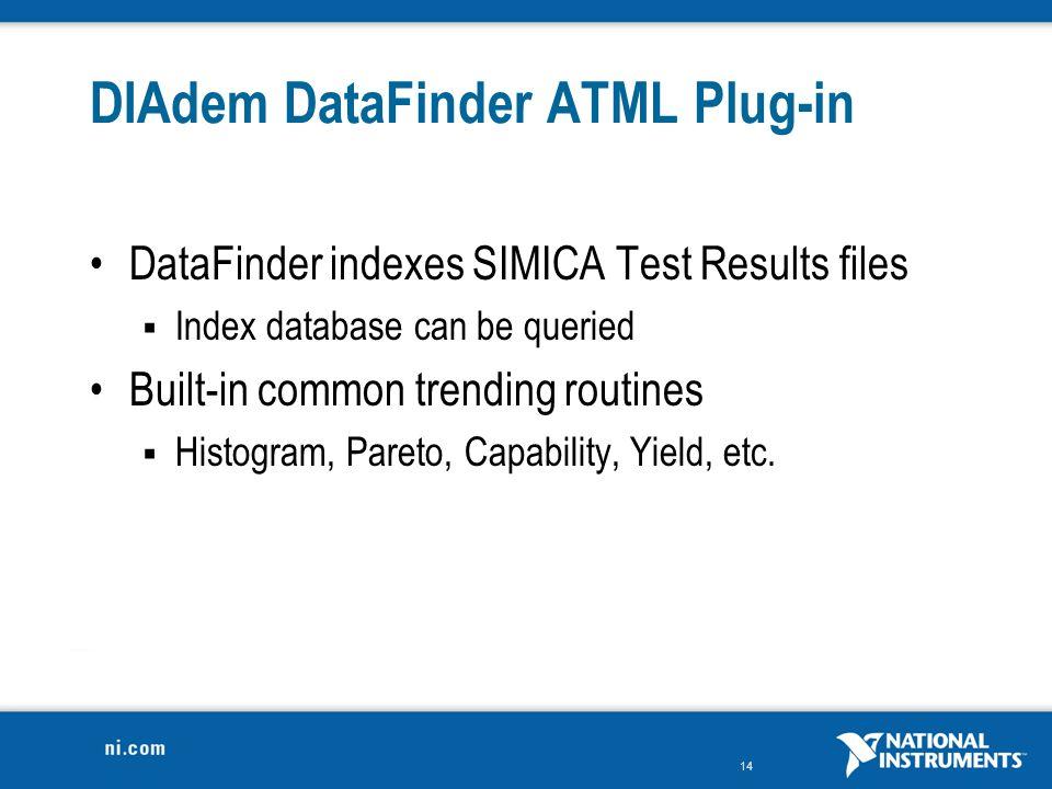 DIAdem DataFinder ATML Plug-in