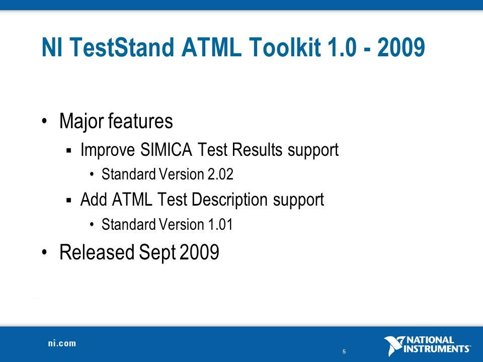 NI TestStand ATML Toolkit 1.0 - 2009