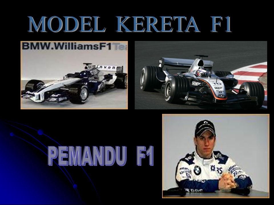 MODEL KERETA F1 PEMANDU F1